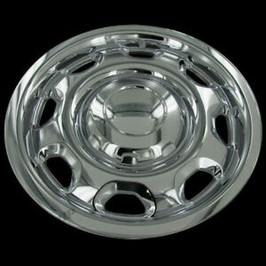 For Ford F150 17 Chrome Wheel Skin Hubcaps Covers 6 Lug 8 Slot Steel Wheels Set