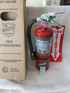 New Certified 2018 buckeye 5lb Halotron Fire Extinguisher With Hose