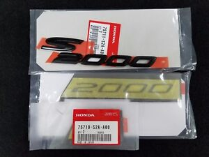 New Genuine Honda S2000 Black Fender Emblems cr Style Set Of 2