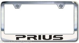 New Toyota Prius Chrome License Plate Frame Engraved Block Letters Set Of 2
