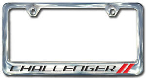 Dodge Challenger Chrome License Plate Frame Engraved Block Letters