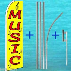 Music Swooper Flag Pole Mount Kit Tall Feather Swooper Banner Advertising Sign