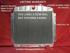1949 1954 Chevrolet Passenger Car Aluminum Radiator Bel Air Styleline Fleetline