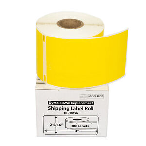 6 Rolls Of 300 Yellow Shipping Labels For Dymo Labelwriters 30256