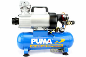 Puma 12 Volt Dc 1 5 Gallon 3 4 Hp Oil less Air Compressor Portable High 3 4 Cfm