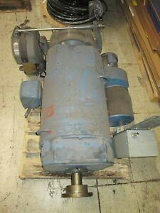 Emerson Dc Motor W Brake And Blower 3680b152002 20hp 500rpms Dp Frame Used