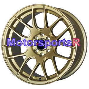 16x8 Xxr 530 Gold Concave Rims Wheels Stance 4x100 93 94 01 Acura Integra Gs Gsr