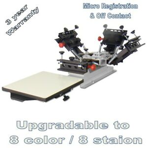 Vastex V 1000 Screen Printing Press 1 Station 4 Color