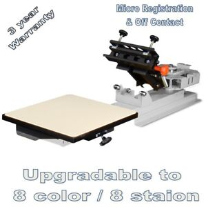 Vastex V 1000 Professional Table Top Screen Printing Press 1 Station 1 Color