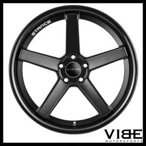 20 Stance Sc5 Black Concave Wheels Rims Fits Ford Mustang Gt Gt500