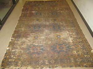 Antique Russian Shirvan Hand Knotted Wool Rug 5 X 11 Repairmans Dream