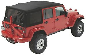 2007 2017 Jeep Wrangler Bestop Supertop Nx Twill Soft Top W Hardware 54823 17
