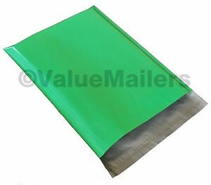 500 14 5x19 Green Poly Mailers Shipping Envelopes Couture Boutique Quality Bags
