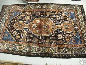 Persian Kurd Rug Hand Knotted Wool On Wool Excellent
