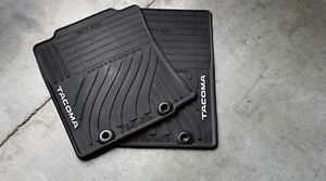 2015 Toyota Tacoma Double Cab All Weather Floor Mats Black Oem Pt9083515020