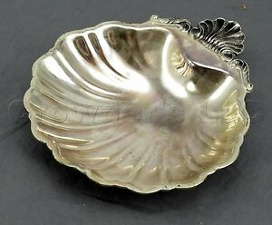 Tarnish Resistant Silverplate Seashell Trinket Candy Dish Bowl Made In Japan