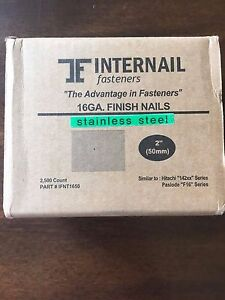 2 16ga Stainless Steel Finish Nails 2500 Count
