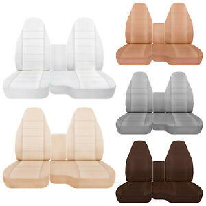 Car Seat Covers 60 40 Seat Console Cover Solid Colors Fits Ford Ranger 91 12