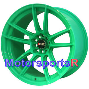 Xxr 969 R Green 18x10 25 20 Rims Wheels Concave 5x114 3 Fit Nissan 350z Nismo