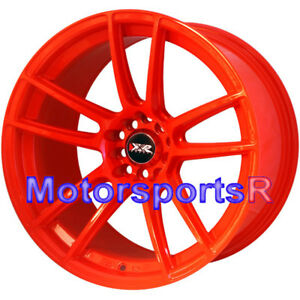 Xxr 969 R Orange 18 X 10 25 20 Rims Wheels Concave 5x4 5 98 04 Ford Mustang Gt