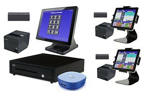 New 3 Station Blackfish Bar Restaurant Pos System Touch Windows8 10 With Tablets