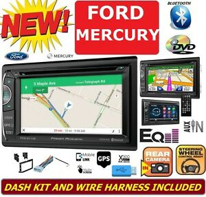 Ford Mercury Car Radio Stereo Gps Navigation System Bluetooth Dvd Cd Usb Aux Bt