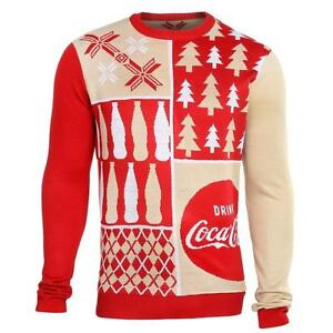 Coca Cola Coke PATCHES Warm Winter Stylish Crew Neck Sweater - Patches
