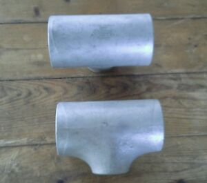 Speedcon Stainless Steel 304 Ls Pipe Fitting Reducer Tee Weld 3 X 2 S10swp304ls