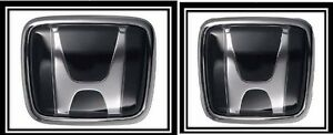 New Honda Civic Prelude Crx Accord Jdm Hood Trunk Black Emblem Decal Badge