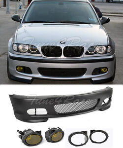 For 00 06 Bmw E46 Coupe 2dr M tech Ii Performance Front Bumper Yellow Fog Light