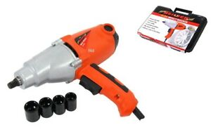 Heavy Duty 1010w Electric 240v 1 2 Dr Impact Wrench In Case Sockets 17 22mm