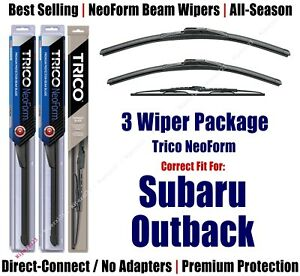 3pk Wipers Front Rear Neoform Fit 2000 2004 Subaru Outback 16220 200 30150