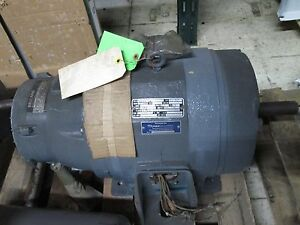 Reuland Electric Ac Motor W Brake 5 2 5hp 1750 875rpm 460v 7 5a Used