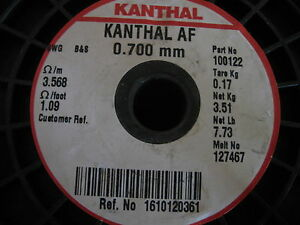 Kanthal Af Round 0 7mm Resistance Heating Wire 5 Meter Iron chromium alumi