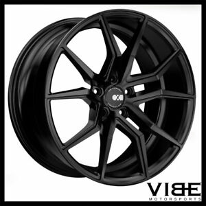19 Xo Verona Black Concave Staggered Wheels Rims Fits Acura Tsx