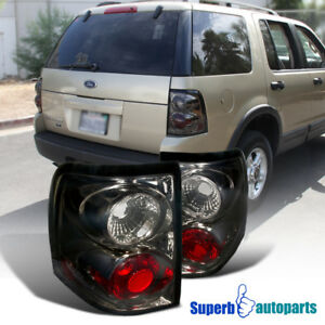For 2002 2005 Ford Explorer Replacement Tail Lamps Brake Lights Smoke