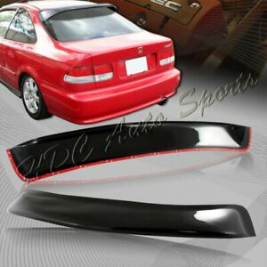 For Honda Civic Ej Ek 2dr Coupe Black Abs Plastic Rear Window Roof Visor Spoiler