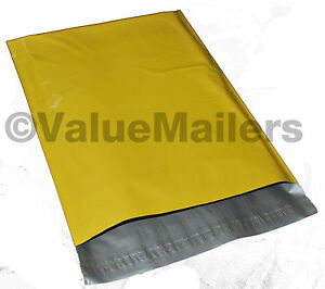500 14 5x19 Yellow Poly Mailers Shipping Envelopes Couture Boutique Quality Bags