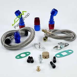 T3 T4 T3 t4 T70 T66 To4e Turbo Charger Oil Feed Oil Return Oil Drain Line Kit U4