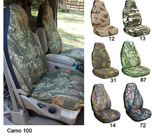 Cc Front Set Car Seat Covers Fits Ford F150 550 Captain Chairs W Armrest 92 00