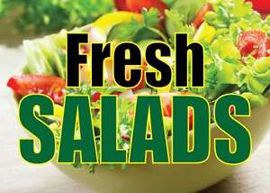 Fresh Salads 24 x18 Large Hanging Counter Wall Food Signs