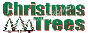 3 x8 Christmas Trees Banner Outdoor Sign Large Holiday Sales Fresh Cut Xmas