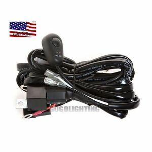 8ft 40a 12v Power Switch Relay Wiring Harness Kit For Led Light Bar Offroad