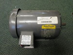 Baldor Ac Motor M3558 1hp 1140rpm 230 460v 3 4 1 7a 60hz 3ph New Surplus