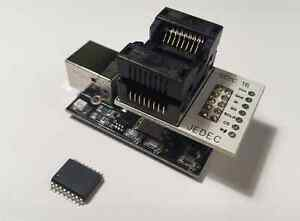 Spi Flash Eeprom Memory Programmer With Soic16 So16 Socket Adapter usb 2 0