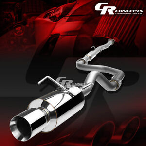 4 Muffler Rolled Tip Catback Racing Exhaust System For 94 99 Acura Integra Gsr