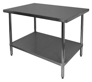 Gsw 16 Gauge 30 x 60 x35 All Stainless Steel Flat Top Work Table Nsf Wt p3060