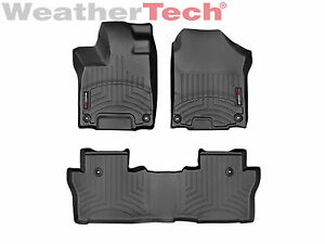 Weathertech Floorliner For Honda Pilot 8 Passenger 2016 2019 1st 2nd Row Black