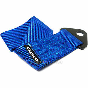 Cusco Universal Fabric Tow Strap Hook Blue Made In Japan 00b cts bl Genuine