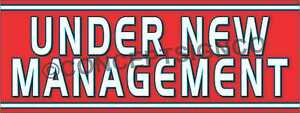 3 x8 Under New Management Banner Outdoor Sign Large Business Owners Managers